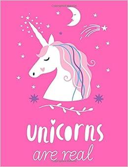 Unicorns Are Real Unicorn Sugar Plum Pink Notebook Composition