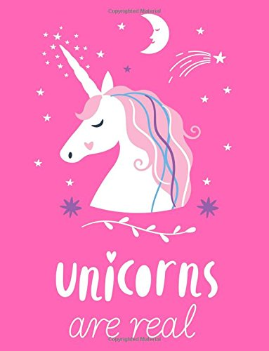 Download Unicorns Are Real: Unicorn Sugar Plum Pink Notebook (Composition Book, Journal) (8.5 x 11 Large) PDF