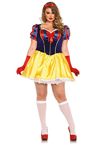 Costume Plus Snow White (Leg Avenue Women's Plus-Size Snow White Poison Apple Princess Costume, Multi,)