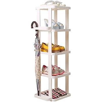 Amazon Com White Narrow Shoe Storage Rack Vertical Shelf