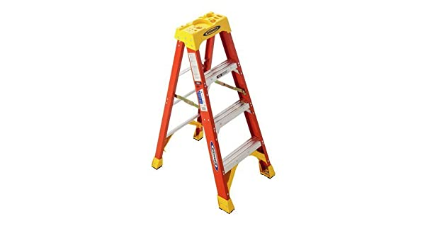 Werner 6204 300 de Pound Duty rating Type IA Fiber Glass Step Ladder, 4 de Foot by Werner: Amazon.es: Oficina y papelería