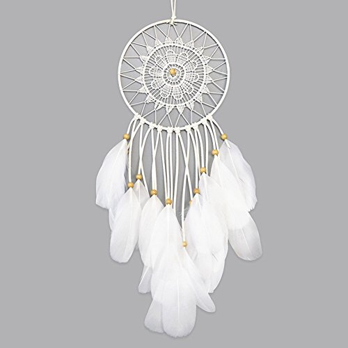 LOMOHOO Unicorn Dream Catcher with LED Light Colorful Light Up Dream Catchers Handmade Purple Pink and Blue Feather Boho Baby Room Decor Kids Bedroom Decoration Gift (Light up Unicorn.)