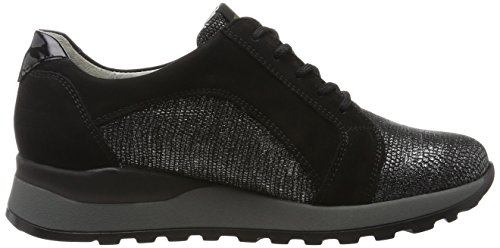 Hiroko Zapatos Negro de Waldläufer Mujer Namib Namib Denver para Derby Cordones Schwarz Slack 001 BqwnRp