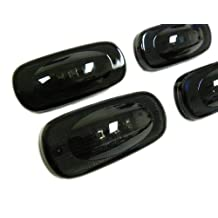 2003-2009 DODGE Ram 3500 SIDE MARKERS LED Fender Lights Assembly FSM 264131BK for RAM 3500 Dually Bed in SMOKED Lenses Black (4 Piece Pc Set Kit) 03 04 05 06 07 08 09 2003 2004 2005 2006 2007 2008 2009