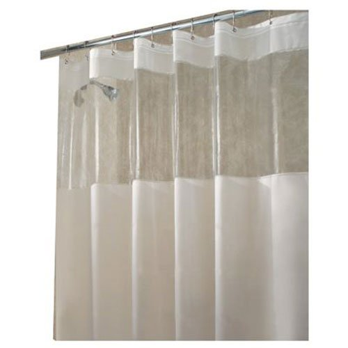 InterDesign Hitchcock Shower Curtain, 72 x 72, Clear