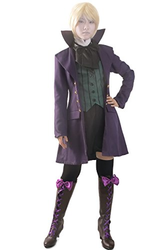 Miccostumes Women's Black Butler 2 Earl Alois Trancy Cosplay Costume (Women XL, Purple)