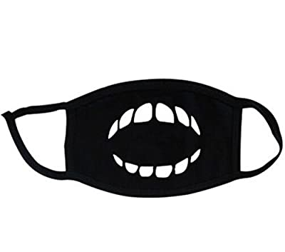 Super Hunter Outdoor Protective Cartoon Teeth Cotton Face Mouth Mask Suitable for Adults