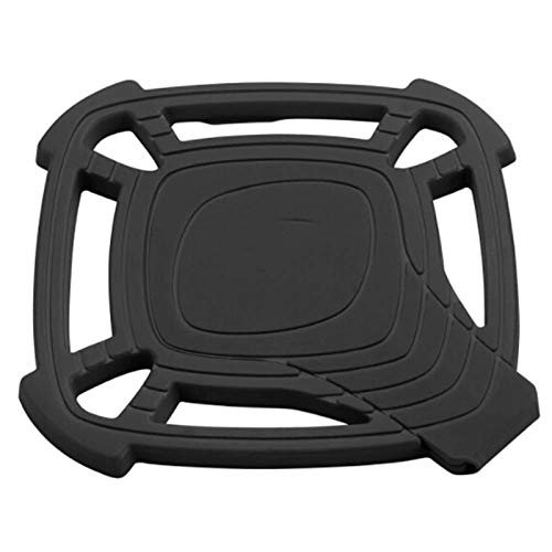 - HeroStore Folding Dual Silicone with Spoon Rest Table Mat Non Slip Durable Heat Resistant Hot Pads Color Random