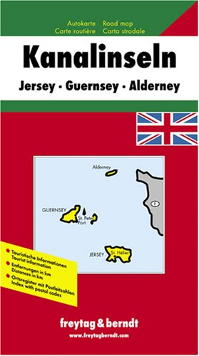 Channel Isles Map, Great Britain (English, French, Italian and German Edition)