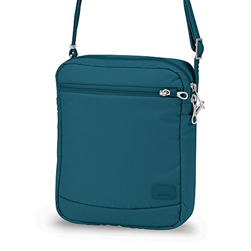 Pacsafe Citysafe CS150 Anti-Theft Cross-Body Shoulder Bag Verde azulado