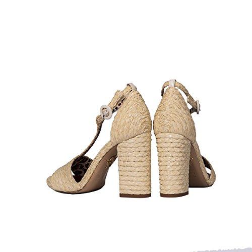 Charlotte Olympia Women's JANES164776101 Beige Jute Sandals sz5tZr
