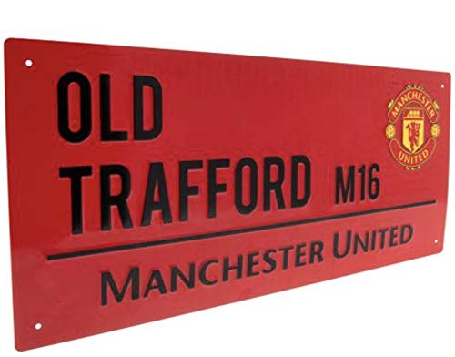 Manchester United FC Street Sign Red - Metal - Old Trafford