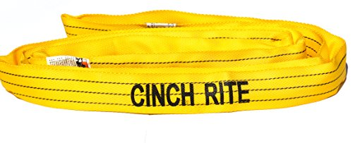 Round Sling 12Ft Yellow Polyester Endless Round Sling 8,400lb Vertical Load Limit (Roundsling)- FREE SHIPPING!