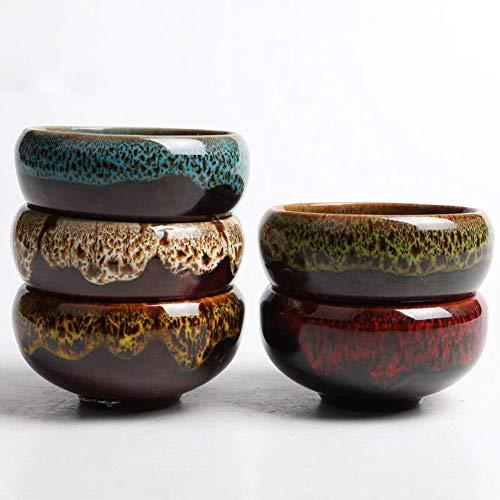 Candora Mini Maceta Decorative Garden Plants Ceramic Pot Planters Flowerpot Pottery Clay Bonsai Pots Ice-Crack