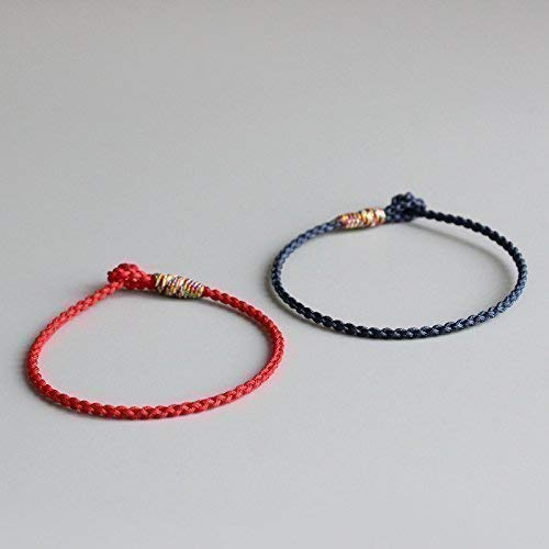 0d5655056f Image Unavailable. Image not available for. Color  TALE Lucky Rope Bracelet  Tibetan Buddhist Hand Braided Knots ...