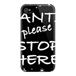 Iphone 6plus Cases Covers - Slim Fit Protector Shock Absorbent Cases (santa Please Stop Here)
