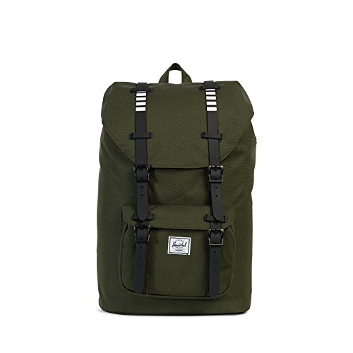 Herschel Supply Co. Little America Mid-Volume, Forest Night/Black Rubber/White Inset