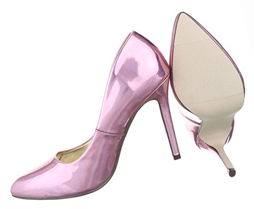Damen Schuhe Pumps High Heels Stiletto Schwarz Rosa