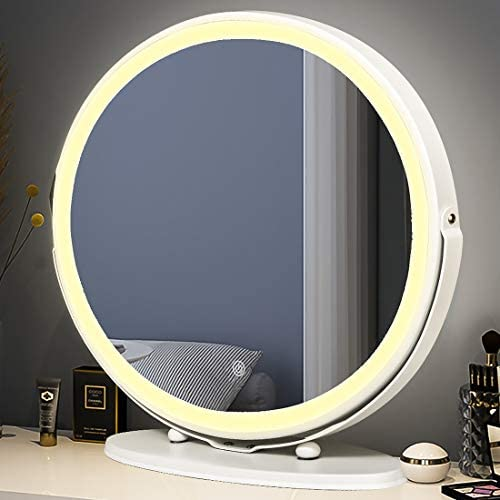 MYSELFLY 19″ Make Up Mirror Backlit Vanity 3 Color LED Lights Lighting Modes w/Dimmable LED Strip Touch Screen