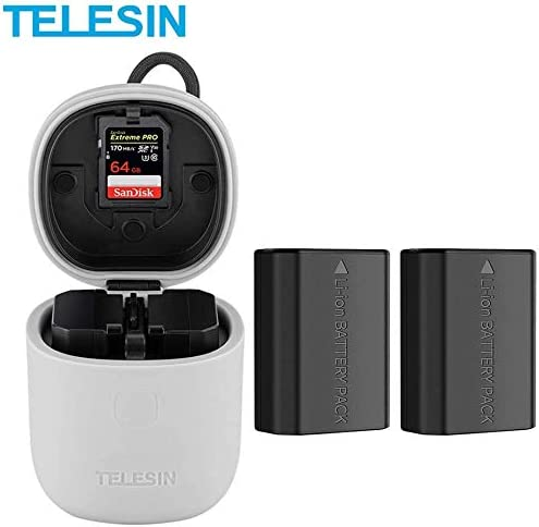 TELESIN FZ100 Dual USB Charger with SD Card Reader for Sony a6600 a7 III Alpha 9R Alpha 9 Alpha 9S a7R IV A7R3 A7RIII A9R 1 x Charger Sony A9