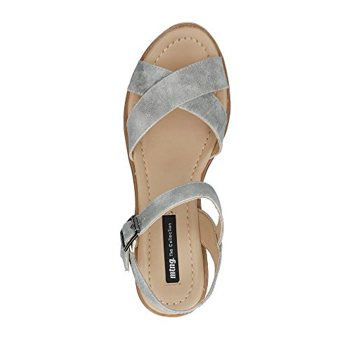 MTNG Sandals and Slippers for Women, Colour Grey, Brand, Model Sandals and Slippers for Women New PLEX Grey Grey