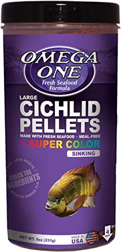 Omega One Super Color Cichlid Pellet Large Sinking 9 Ounce ()