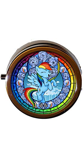 Rainbow Dash Pill Box Stained Glass My Little Pony Pill case Medication Jewelry]()