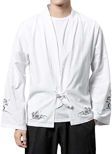 カーディガン メンズ 羽織 和式パーカー 前開き 長袖 シャツ コットン カジュアル 大きいサイズ 春 夏