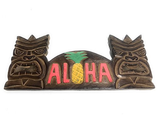 (Olga212Patrick TIKI BAR SIGN ALOHA PINEAPPLE - TIKI BAR DECOR)