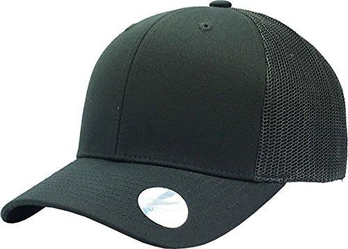 KBE-MESH DGY-DGY Classic 6 Panel Mesh Cotton Twill Trucker Cap Adjustable Snapaback Hat