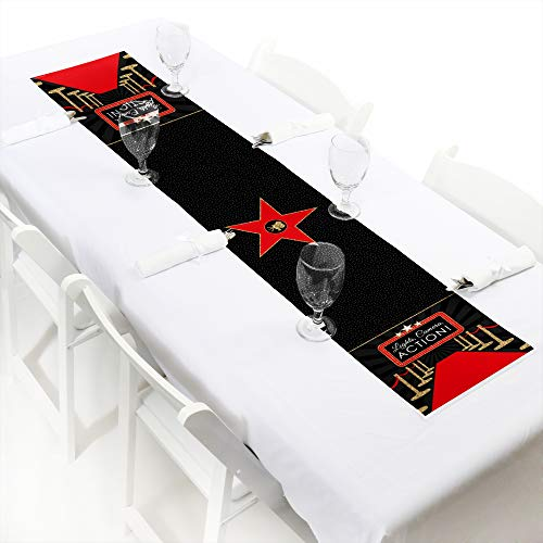 Red Carpet Hollywood - Petite Movie Night Party Paper Table Runner - 12