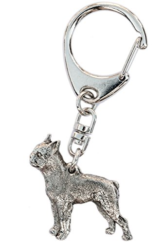 Boston Terrier Made in U.K Artistic Style Dog Key Ring Collection