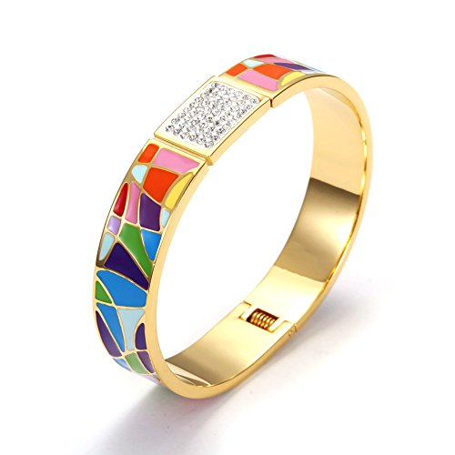 stainless-steel-gold-plated-crystal-pave-bohemia-style-enamel-cuff-bangle-red