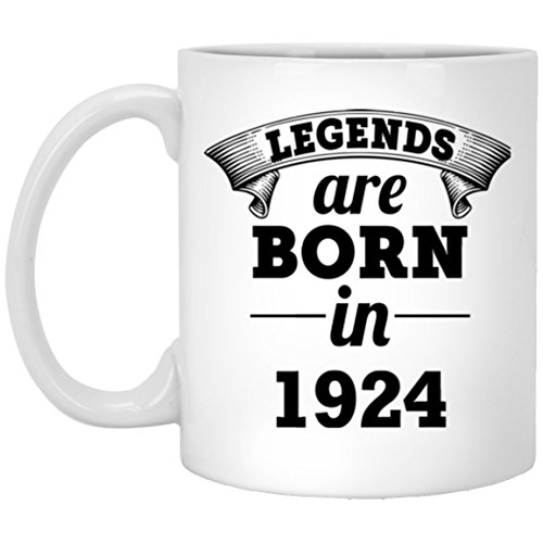 94 Years Birthday Mug, Gift For Man, Girl, Legends Are Born In 1924 Hilarious gift For Grandson, Boyfriend - On April Fool's day, White 11oz 2 - April Fools Hilarious