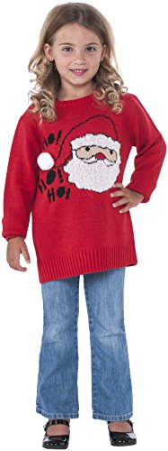 Rubie's Costume Santa Ugly Christmas Sweater Costume, One Color, (Awkward Family Photos Halloween Costumes)