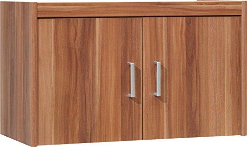 CS Schmalmöbel 65/121 Aufsatz-Schrank, Holz, nussbaum, 72 x 36 x 43 cm