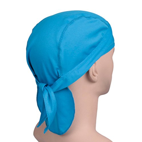 3 Pack Quick Dry Dew Rag Cycling Caps for Men & Women Under Any Helmet