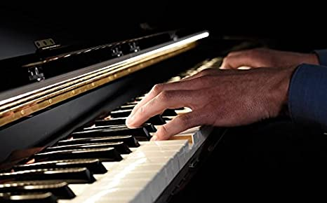 Lampada a led per pianoforte thepianolamp finitura nero: amazon.it