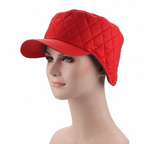 Maoko Men and Women Winter Fleece Lined Ski Snow Baseball Cap Hat / Earflap Hat Cap with Earmuffs Warmer - Banz Usa Baby