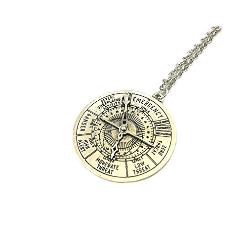 Fantastic Beasts Danger Meter Silver Tone Necklace w/Gift Box by (Heart Hero Arts)