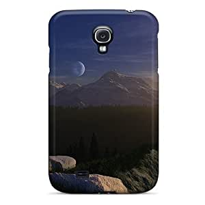 High-end Cases Covers Protector For Galaxy S4(3d Landscape Moon)
