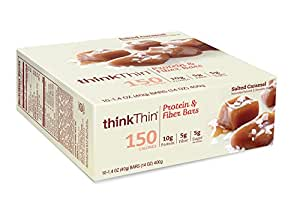 thinkThin Protein and Fiber Bars, Salted Caramel, 14 Ounce