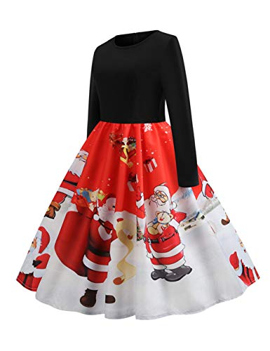 Femme Ethnique Pull Rockabilly Noël Rouge Fille Mere Feelingirl Robes Noel Robe TAqPdp