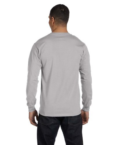 By Hanes Adult Beefy-T Long-Sleeve T-Shirt_Light Steel_L