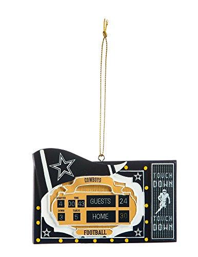 Team Sports America NFL Dallas Cowboys Scoreboard Polystone Ornament, Small, Multicolored (Nfl Scoreboard)