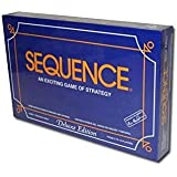 Sequence Deluxe Edition Game with Playing Chips Family Board Playing Cards Game
