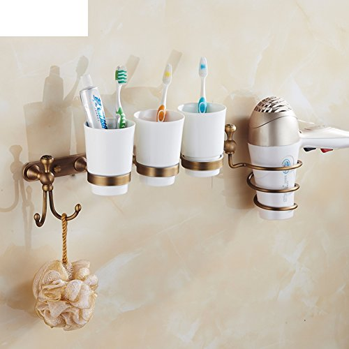 Copper antique bathroom racks/ blower shelf /Double Cup toothbrush tumbler holder/Dish SOAP network/ towel ring/clothes Hook-A