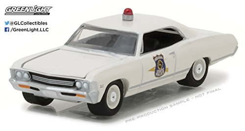 Die Cast Car Assortment - NEW 1:64 GREENLIGHT HOT PURSUIT SERIES 23 ASSORTMENT - 1967 CHEVY IMPALA - INDIANA STATE POLICE (OFF-WHITE) Diecast Model Car By Greenlight