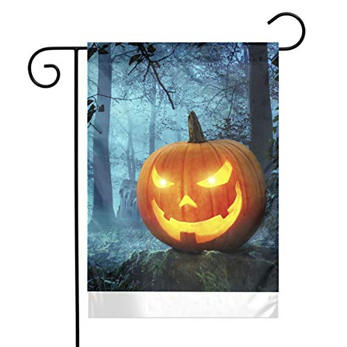 MINIOZE Halloween Kürbis in Schauriger Umgebung Bei Mondschein Themed Welcome Mailbox Small Jumbo for Outdoor Decorations Ornament Picks Garden House Home Yard Traditional Decorative Front 12