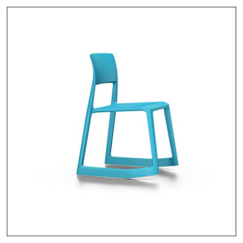 (Vitra Tip Ton Forward-Tilting, Stackable Chair, Color = Glacier Blue)